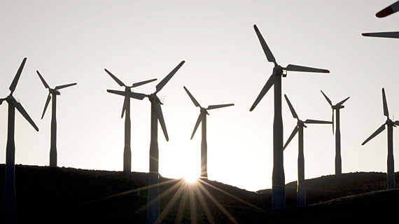 Windräder in Kalifornien. Bild: PHOENIX/ZDF/BBC/Jonathan Renouf