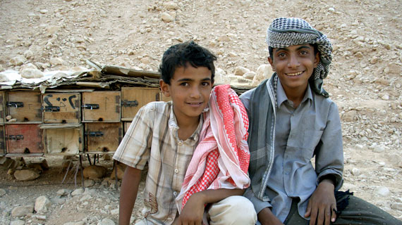 Abdullah (li.) mit seinem großen Bruder Salem (re.) Bild: ARTE F