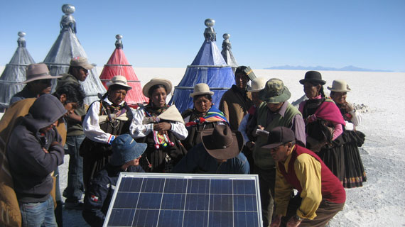Solarenergie für die Lithiumgewinnung. Bild: ZDF und Christopher Gerisch