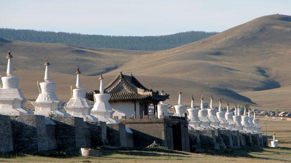 Das Kloster Erdene Zuu im Orchon-Tal, Mongolei. Bild: PHOENIX/SWR
