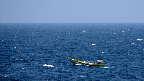 Fischerboot im Golf von Aden. Bild: PHOENIX/Radio Bremen/Fabian Walker