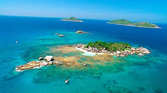 Landschaftsaufnahme von Curieuse Island. Bild: SWR