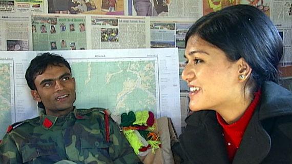 Die ehemalige Kindersoldatin Munna. Bild: PHOENIX/ARD- Studio Neu-Delhi