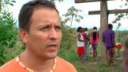 Menschenrechtsaktivst Henrique Chimonja kämpft gemeinsam mit Einheimischen gegen den Hafenausbau von Buenaventura. Das kann riskant werden. Wer sich gegen den Staat und seine wirtschaftlichen Interessen stellt, lebt in Kolumbien gefährlich. Bild: WDR.